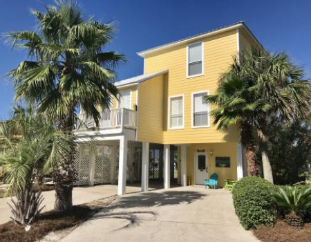 beach house gulf shores, yellow beach house in gulf shores